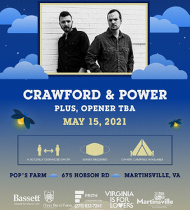 Country concert Saturday with Crawford & Power at Pop's Farm!