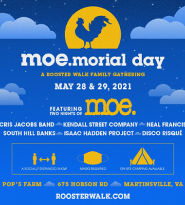 moe. playing TWO nights at Pop's Farm!