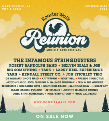 Tickets on sale NOW to Rooster Walk Reunion!